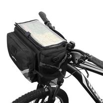 BV Bicycle Map Sleeve Quick-Release Handlebar Bag with Two