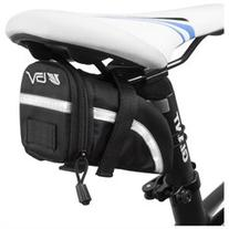 BV Bicycle Strap-On Medium Saddle Bag, Inside Mesh Pocket,
