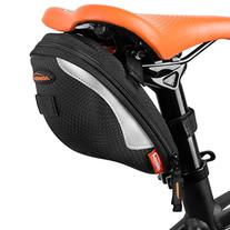 Ibera Bicycle Reflective Trim Wide Opening Strap-On Saddle