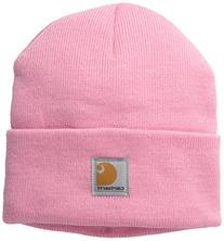 Carhartt Boys' And Girls' Acrylic Watch Hat, Rosebloom,