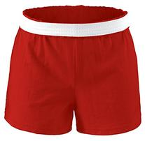 Soffe Youth Girls' Authentic Soffe Shorts, Red, Large