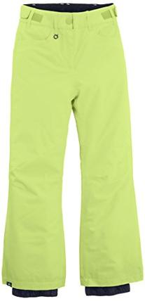 Roxy Big Girls' Backyards Girl Snow Pant, Sharp Green, 14