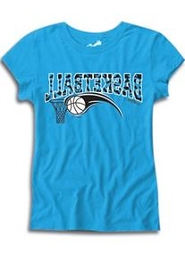 Sports Katz Big Girls 'Zebra' BASKETBALL Fashion T-Shirt