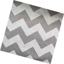 Big Chevron Poly Cotton Grey 60 Inch Fabric By the Yard