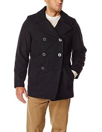 Tommy Hilfiger Men's Big-Tall Classic Peacoat, Black, 2X-