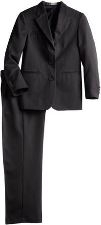 Perry Ellis Big Boys' Dresswear Suit, Black, 8
