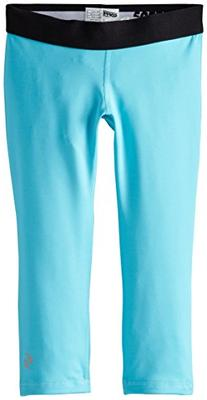 Soffe Big Girls' Dri Capri, Scuba Blue/Black, Medium