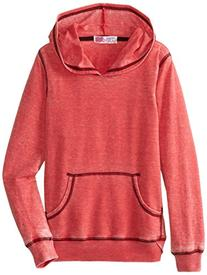 Derek Heart Big Girls' Dropshoulder P O Burnout Hoodie,