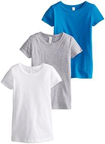 Clementine Big Girls' Everyday Crew Neck Tee Shirt Assorted
