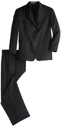 Perry Ellis Big Boys' Husky Suit, Black, 14