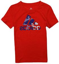 Adidas Big Girls Logo Boyfriend Slub Short Sleeve Tee ,