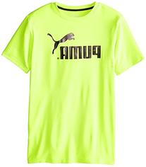 PUMA Big Boys' No.1 Logo Tee, Active Green, 18-20