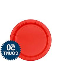 Big Party Pack Luncheon Plates 7 50/Pkg-Apple Red