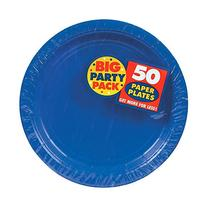 Big Party Pack Paper Dinner Plates 9-Inch, 50/Pkg, Bright