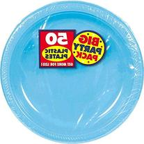 Amscan Big Party Pack 50 Count Plastic Lunch Plates, 10 1/4