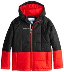 Columbia Big Boys' Pine Pass Jacket, Black/Graphite, Medium
