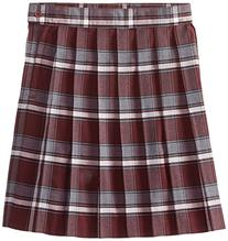 French Toast Big Girls' Plaid Pleated Skirt, Burgundy, 14