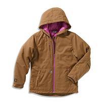Carhartt Little Girls' Quick Duck Woodward Jacket , Honey