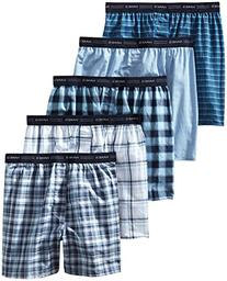 Hanes Men's 5-Pack FreshIQ Tagless, Tartan Boxer with