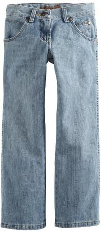 Wrangler Big Boys' Relaxed Seat And Thigh Boot Cut Jeans,