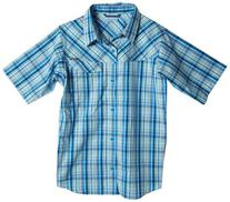 Columbia Big Boys' Ridge Li Plaid Short Sleeve Shirt, Hyper