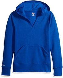 Soffe Big Girls' Rugby Deep V Hood Cp, True Royal, XLG