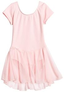 Capezio Big Girls' Short Sleeve Nylon Dress,Pink,L