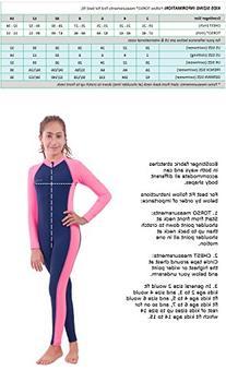 Girls Full Body Swimsuit UV Swimwear Chlorine Resistant