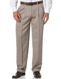 Perry Ellis Men's Big-Tall Portfolio Double Pleated Micro