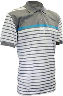 Enimay Men's Big and Tall Striped Polo Shirt Casual Short
