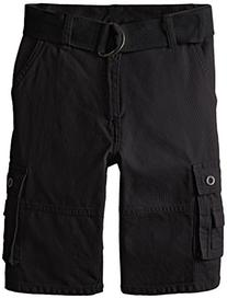 American Hawk Big Boys' Twill Cargo Short, Black, 8