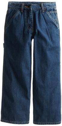Carhartt Boys' Washed Denim Dungaree Jeans, Worn In Blue, 8