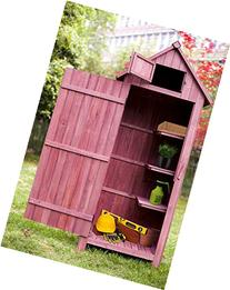 Merax Wooden Garden Shed Wooden Lockers with Fir Wood