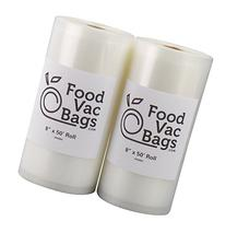 "SALE! Two 8""X50' Rolls of FoodVacBags 4 mil Commercial Grade"