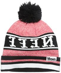 Neff Big Boys' Youth Champion Cuff Pom Beanie, Red, One Size