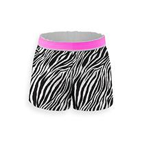 Soffe Big Girls' Zebra Pop Short, Zebra/Neon Pink, Large