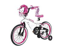 "Hello Kitty Dynacraft Girls BMX Street Bike 18"", White/Black"