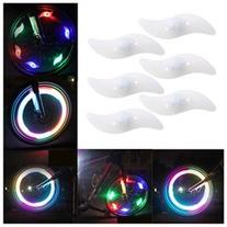 AGPtek 6 PCS Multi-color Bike Light Bicycle Cycling Spoke