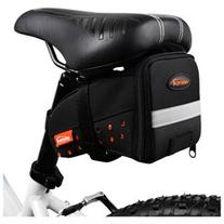 Ibera Bike Strap-On Reflective SeatPak - Medium