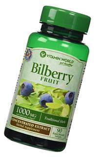 Vitamin World Bilberry Fruit 1000mg, Concentrated Extract,