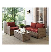Crosley Furniture Biltmore Outdoor Wicker Seating Set with
