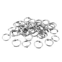 Uxcell Binder Loose Leaf Ring Keychain, 20mm Outer Diameter