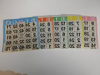 Bingo Paper Game Cards - 1 card - 5 sheets - 100 books - 4