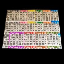 Bingo Paper Game Cards - 3 cards - 10 sheets - 100 books - 4