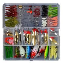 119 Pcs Bionic Fishing Lure Tackle Kit Set Minnow Crank