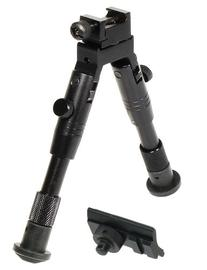 "UTG Shooter's SWAT Bipod, Rubber Feet, Height 6.2""-6.7"