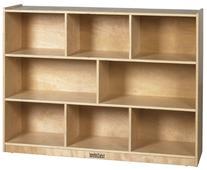 ECR4Kids Birch 8-Section School Classroom Storage Cabinet