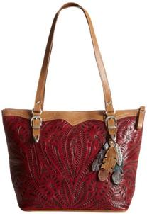 American West Birds of a Feather Bucket Tote Tan /