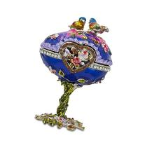 "4"" Birds Jeweled Faberge Inspired Russian Easter Egg"