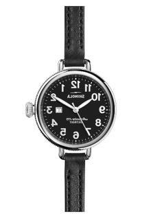 Women's Shinola The Birdy Leather Strap Watch, 34Mm